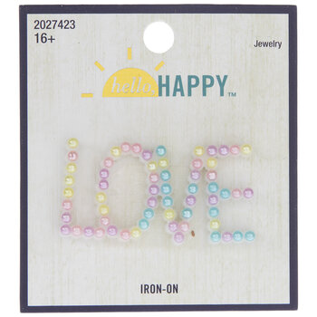 Love Pearl Iron-On Applique