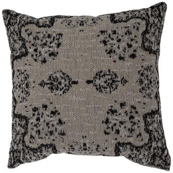 Beige & Black Jacquard Pillow