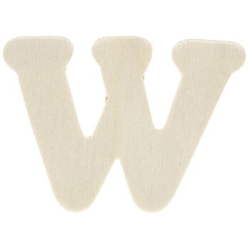 """Wood Letters W - 1 3/4"""""""