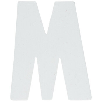 """White Wood Letters M - 2"""""""