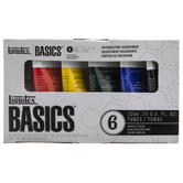 Liquitex Basics Acrylic Paint - 6 Piece Set