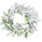 Snowy Lamb's Ear Wreath