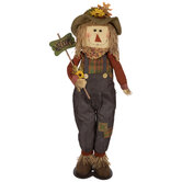 Standing Scarecrow With Welcome Sign