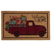 Welcome Home Floral Truck Doormat