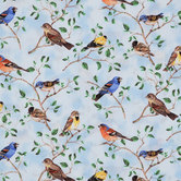 Bird Scenic Cotton Calico Fabric