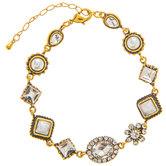 Vintage Rhinestone & Plastic Pearl Bracelet