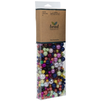 Multi-Color Plastic Pearl Bead Mix