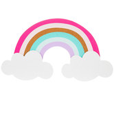 Rainbow On Clouds Corkboard