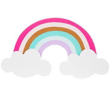 Rainbow On Clouds Corkboard