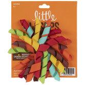 Red, Orange & Brown Curly Grosgrain Ribbon Hair Bow