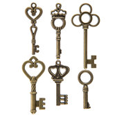 Antique Gold Vintage Key Embellishments