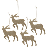 Burlap Deer Ornaments