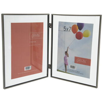 Double Photo Metal Float Frame