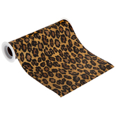 Gold Leopard Print Faux Leather Ribbon - 8""