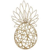 Gold Pineapple Metal Wall Decor