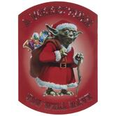 Santa Yoda Magnet