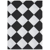 Black & White Harlequin Tablecloth
