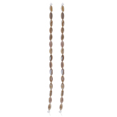 Brown & Beige Rice Shell Bead Strands