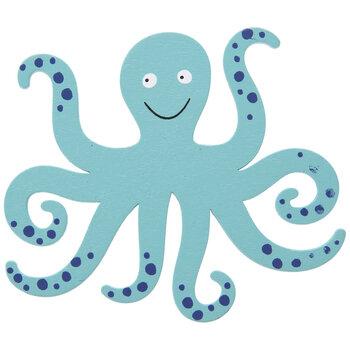 Octopus Painted Wood Shape