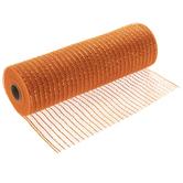 "Orange Metallic Deco Mesh Ribbon - 10"""