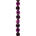 Purple Dyed Faceted Agate Bead Strand