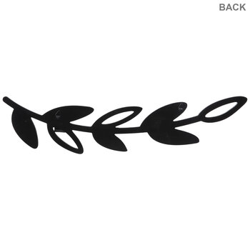 Black Leafy Branch Wood Wall Decor With Clips