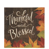 Thankful & Blessed Napkins - Large