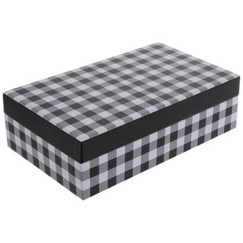 "Black & White Buffalo Check Gift Box - 6 1/4"" x 10 1/4"""