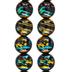 Black Confetti Glass Bead Strands