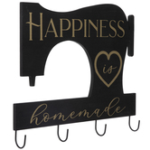 Happiness Is Homemade Wood Wall Decor With Hooks