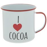I Love Cocoa Metal Mug
