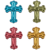 Ornate Cross Metal Beads