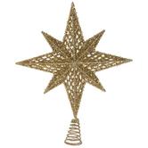 Gold Star Of Bethlehem Metal Tree Topper