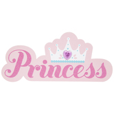 Princess & Crown Painted Wood Shape