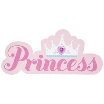 Princess & Crown Painted Wood Shape