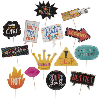 Multi-Color Party Photo Booth Props