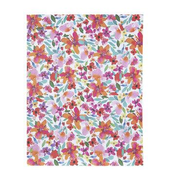 """Orange & Pink Floral Paper - 8 1/2"""" x 11"""""""