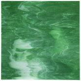 Dark Green & White Stained Glass