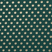 Green & Gold Polka Dot Georgette Fabric