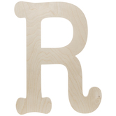 Typewriter Font Wood Letter Wall Decor - R
