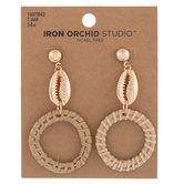 Cowrie Shell Drop Earrings