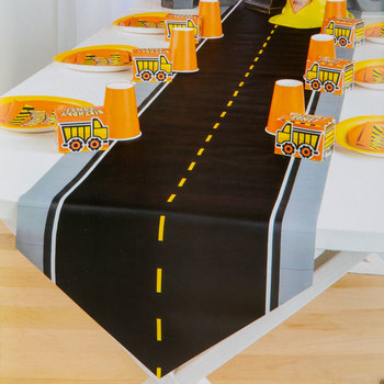 Construction Party Road Table Runner