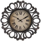 Floral Edge Wall Clock