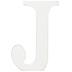 Whitewash Wood Letter - J