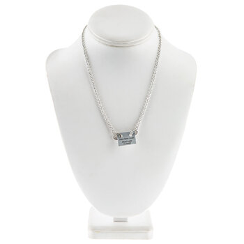 """Chain Necklace With Loop Clasps - 16"""""""