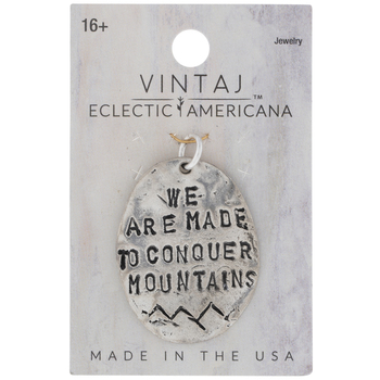 Sterling Silver Plated Conquer Mountains Pendant