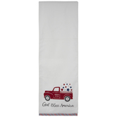 God Bless America Truck Table Runner