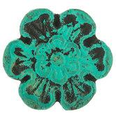 Distressed Metal Flower Knob