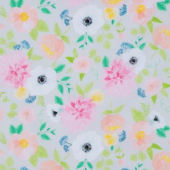 Lighthearted Floral Apparel Fabric