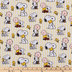 Snoopy Striped Cotton Calico Fabric